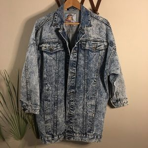Vintage Whipp acidwash denim jean oversized jacket